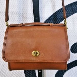 Vintage Coach British Tan Crossbody